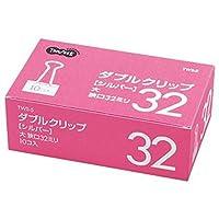 ==まとめ== ・TANOSEE・ダブルクリップ・大・口幅32mm・シルバー・1箱==10個== ・-×30セット-