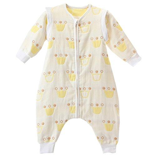 ec000560996da TMVOK スリーパー 赤ちゃん 長袖 キッズ 春や秋に最適 6重 ガーゼ パジャマ 袖外せる