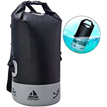 Rocontrip Waterproof Dry Bag, Roll Top Dry Compression Dry Sack with Detachable Shoulder Strap for Kayaking, Beach, Rafting, Boating, Hiking, Camping and Fishing 10L/20L