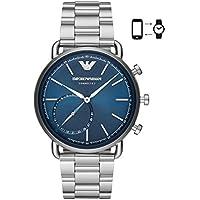 Emporio Armani Men's Quartz Smartwatch smart Display and Stainless Steel Strap, ART3028
