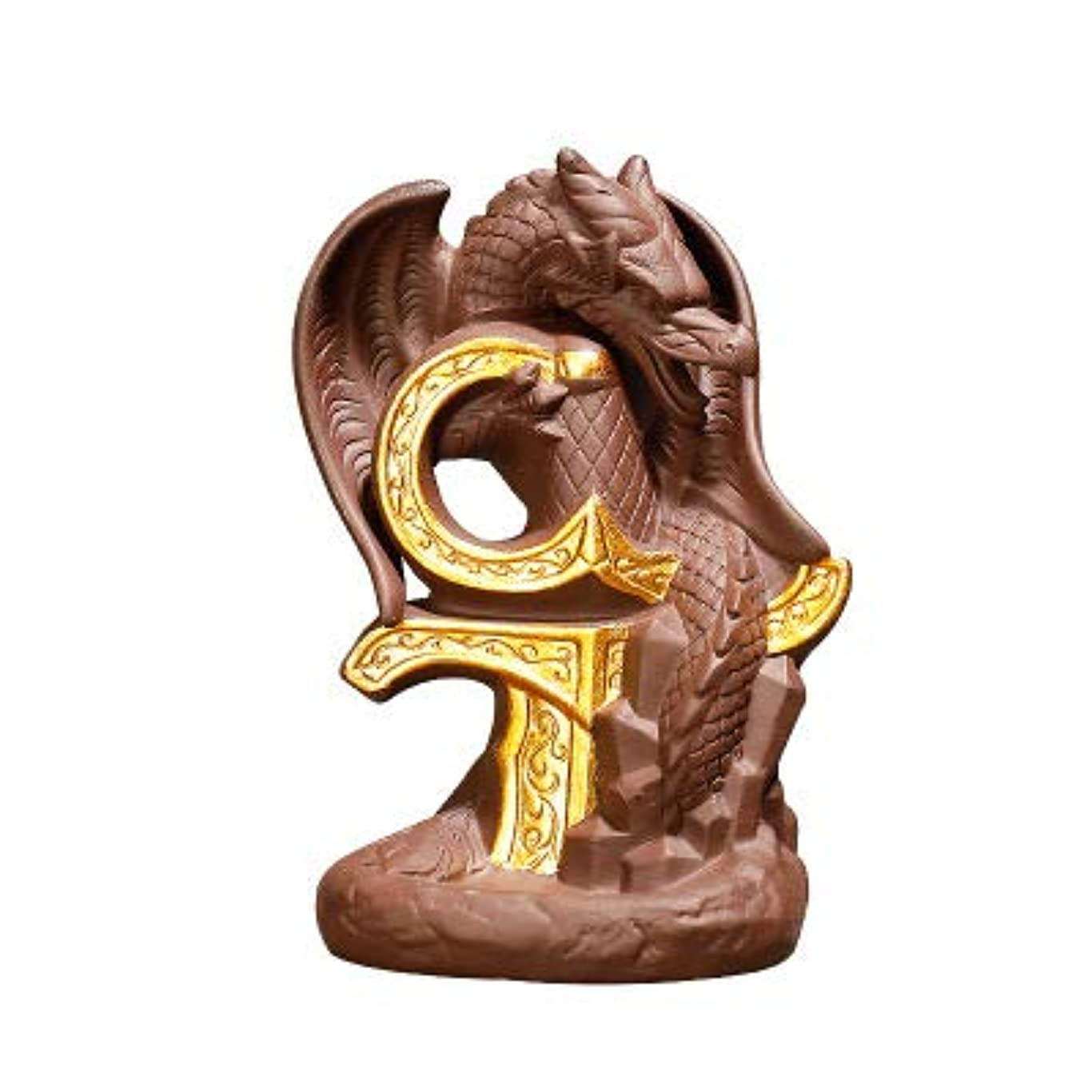 好奇心喉頭構造PHILOGOD 陶器香炉 逆流香 倒流香 フライングドラゴンスタイリング線香立て 香皿