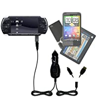 GomadicデュアルDC車オートミニ充電器Designed for the Sony PSP 3000–Uses Gomadic複数のデバイスを充電するin Your Car