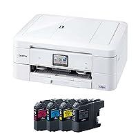brother インクジェットプリンター複合機 PRIVIO DCP-J968N-W ホワイト 4色インクセット