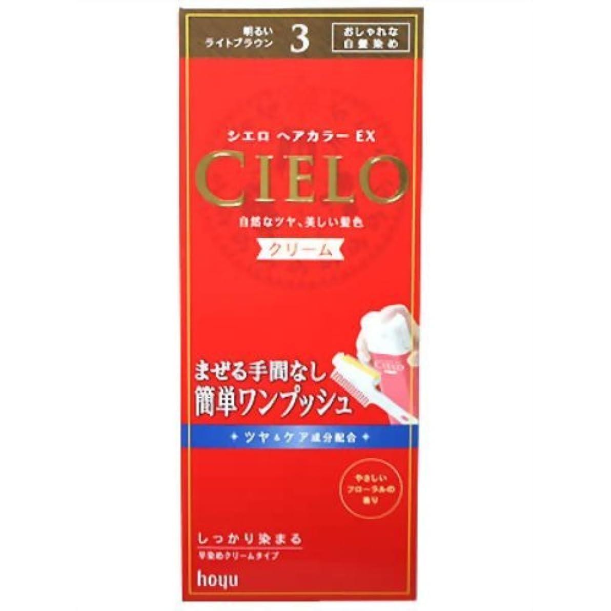 ヒギンズトーナメント組立シエロ ヘアカラ-EX クリ-ム 3 明るいライトブラウン