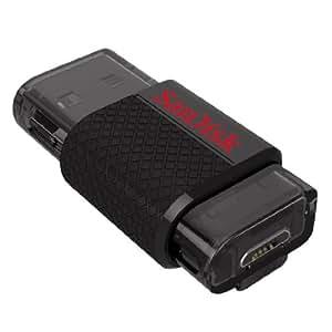 SanDisk(サンディスク) USBメモリー USB2.0 microUSB Dual USB Drive Android 32GB 海外パッケージ品 ブラック SDDD-032G-G46