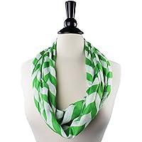 Prime Amazon Day - Womens Scarves Chevron Infinity Scarf - Pop Fashion Scarfs with Zipper Pocket Lightweight Wrap msrp 44.99