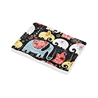 KDGCH ペットベッド 象 マット ペットクッション 犬用 猫用 寝床 もこもこ ふわふわ 柔らかい 丸洗える 滑り止め ケージ用敷物 暖かい 四季通用 防寒対策 53x75cm