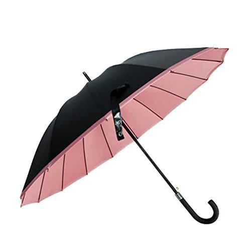 (チェリーレッド) CherryRed ファッション 長傘 日傘 晴雨兼用 遮光遮熱 UVカット 軽量 日よけ 特徴 ビジネス 男女兼用 耐風 大きい 大きいサイズ 1#