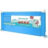 YNN ベッドフェンス子供の耐衝撃性ガードレール縦型リフトベッドガードレールユニバーサルバッフル150/180/200cm (色 : Blue, サイズ さいず : 150cm)