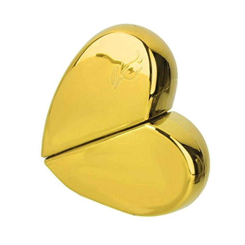 お気に入りスクリーチみすぼらしいKOZEEY旅行 ハート型 香水アトマイザー 詰め替えスプレーボトル25ml ゴールド