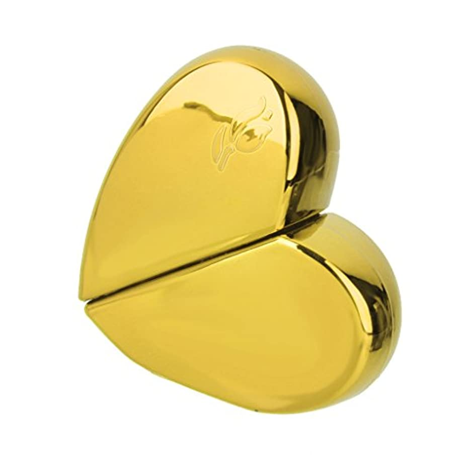 冗長ヒューズ不平を言うKOZEEY旅行 ハート型 香水アトマイザー 詰め替えスプレーボトル25ml ゴールド