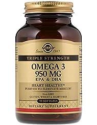 Solgar オメガ 3 EPA DHA トリプルストレングス 950mg 50ソフトジェル 【アメリカ直送】