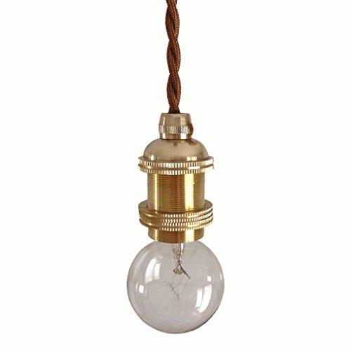 RoomClip商品情報 - m&s 真鍮製 ソケット ペンダントライト 天井照明 1灯 E17口金 (a コード長さ50cm)