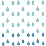 Buorsa 4 Set Gradual Blue Colors Paper Raindrop Garland For Nursery decor April showers Spring Shower Raindrop Baby Shower [並行輸入品]