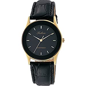 [シチズン キューアンドキュー]CITIZEN Q&Q 腕時計 Falcon ファルコン アナログ 革ベルト ブラック QA36-102 メンズ
