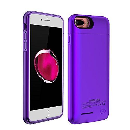 バッテリー内蔵 モバイルケース 2パーツ式 急速充電 4200mAh 5.5インチ 6/6S/7 Plus用 紫