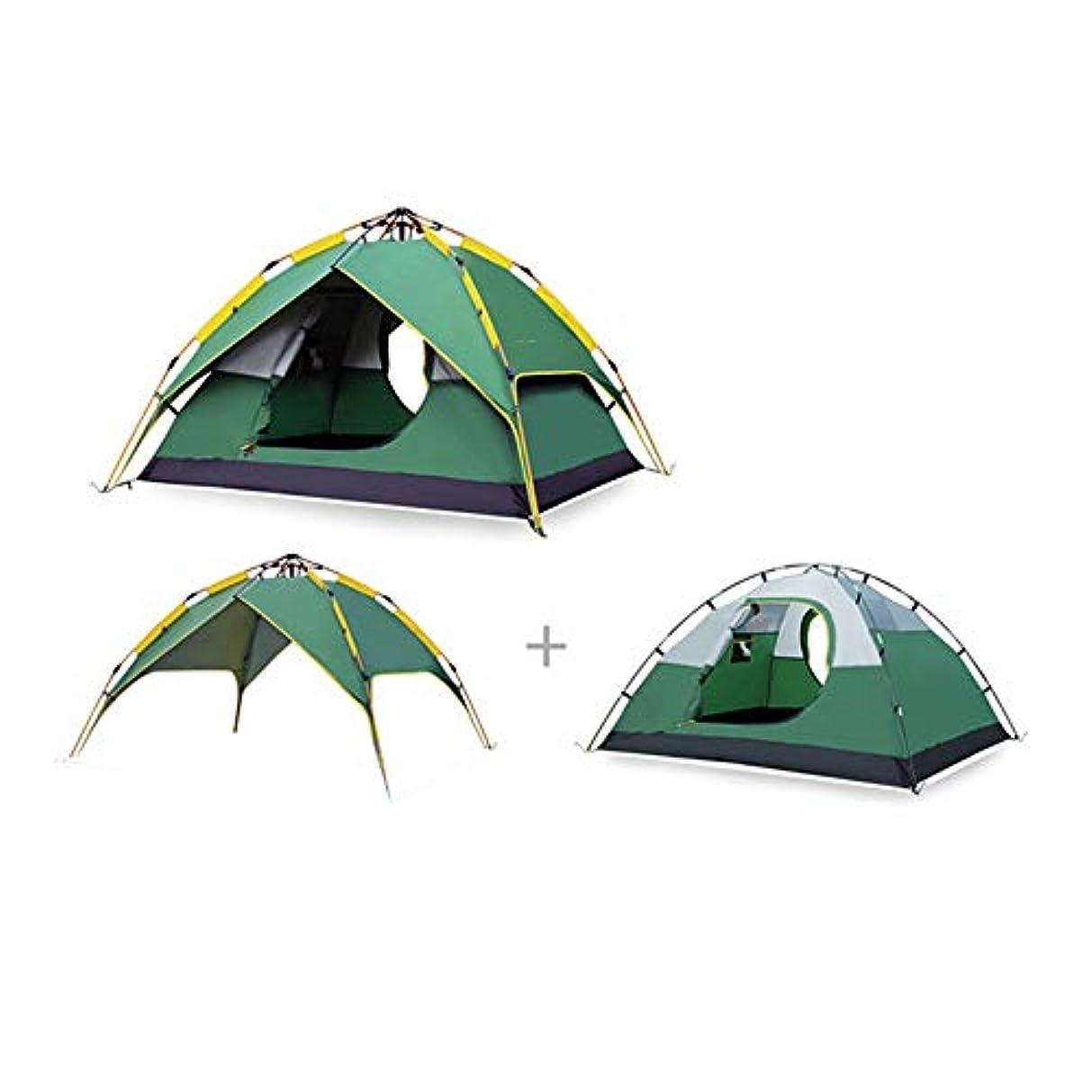 工業化するピアノを弾くつぶす雨のキャンプ場のテント、屋外の自動油圧ピクニック装置が付いている3 4人