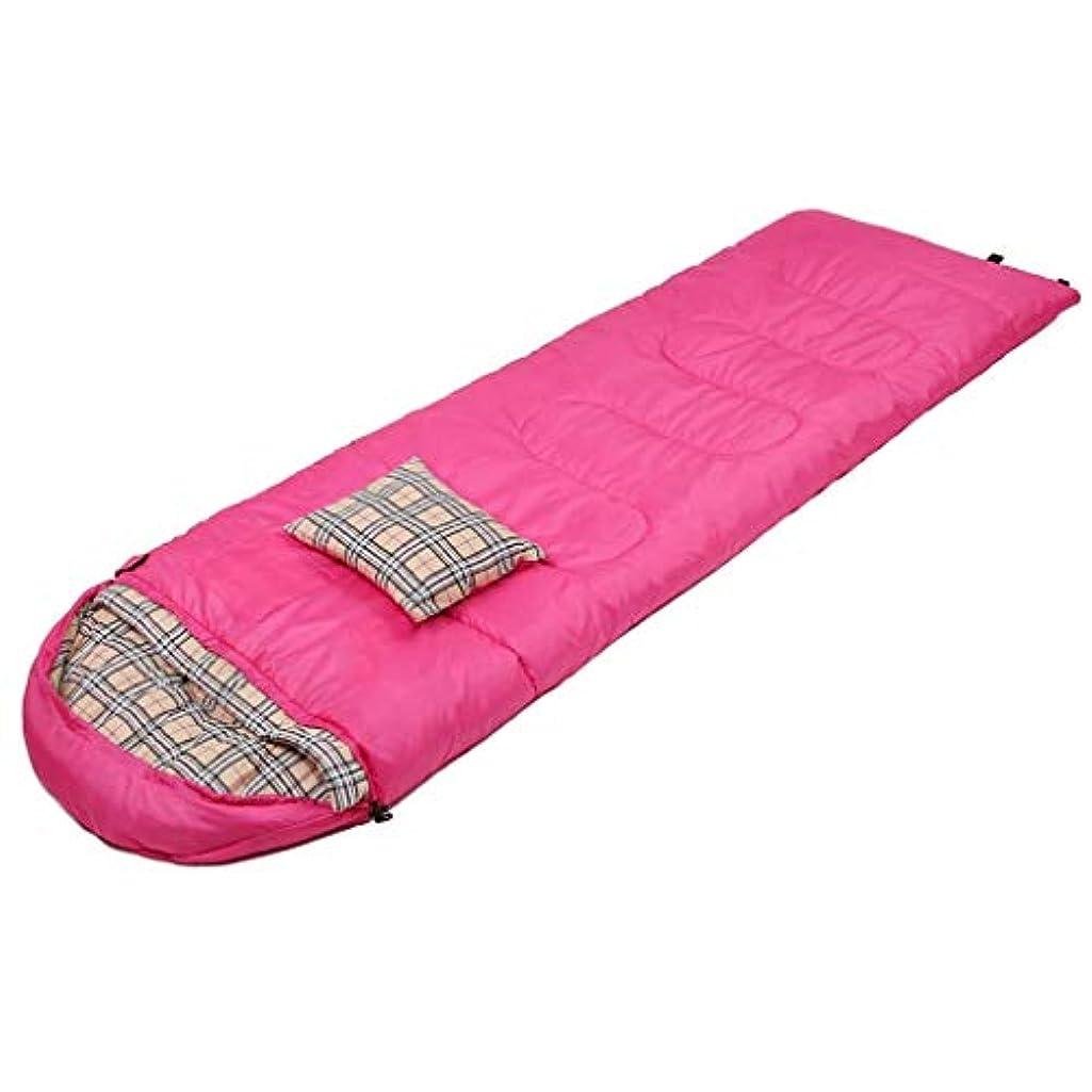 クラシカル無数の熟すLCSHAN 寝袋ポリエステルポリエステル屋外用多機能防水ウエアユニバーサルシーズン (容量 : A, 色 : Pink)