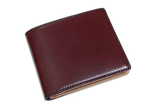 コードバン(馬尻革)×本ヌメ革サイフ(BOX型小銭入付二つ折財布) チョコ