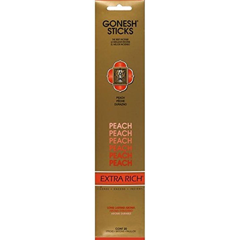 暴露するビットプロフィールGonesh - Peach 20 Count Incense Sticks by Gonesh