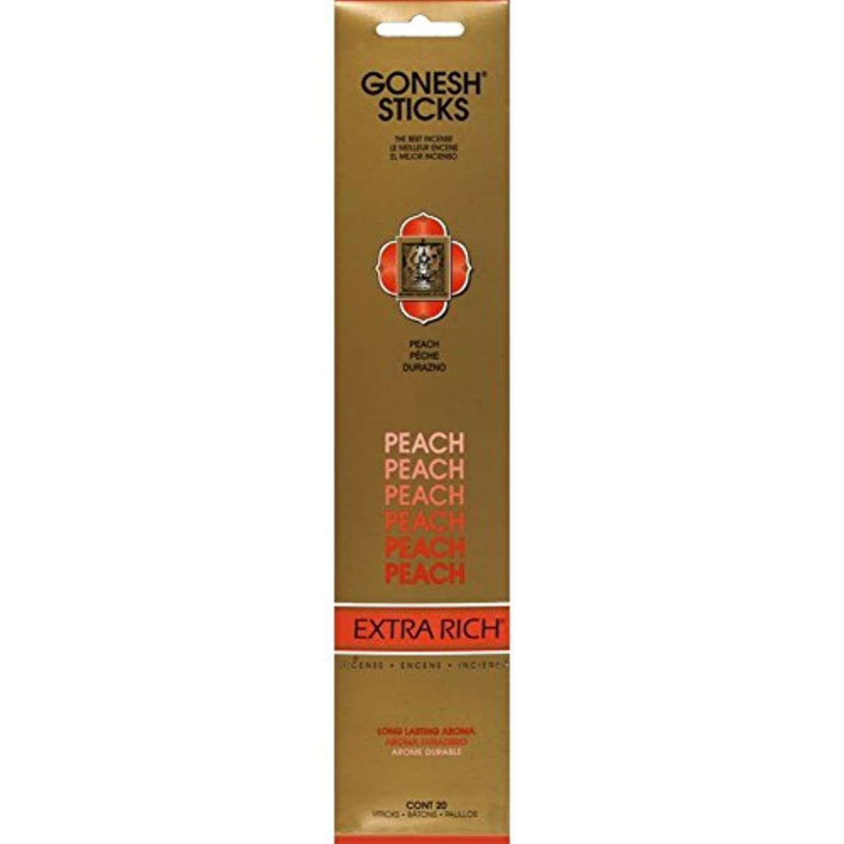 パラメータ地下鉄水平Gonesh - Peach 20 Count Incense Sticks by Gonesh