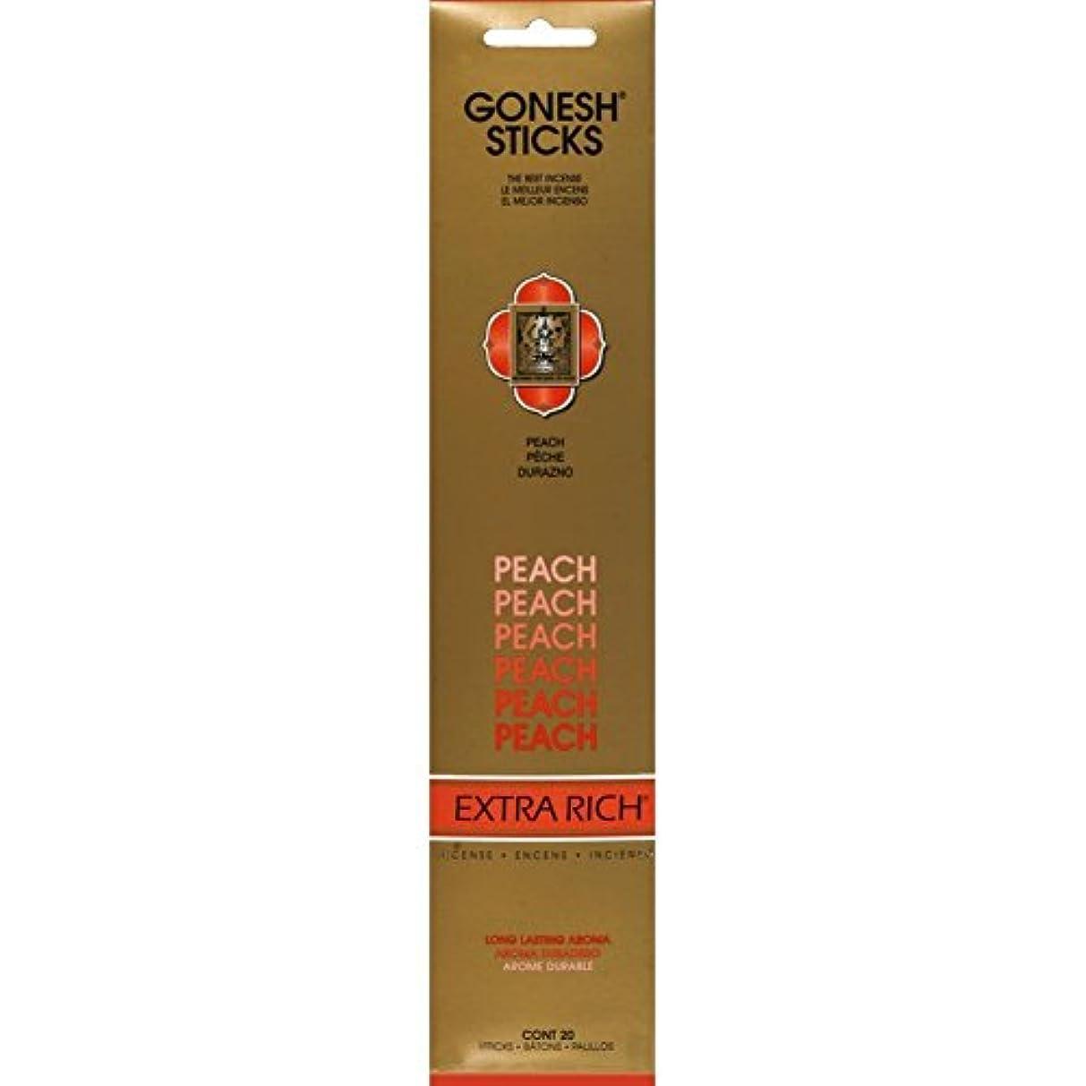 残基通行料金感じGonesh - Peach 20 Count Incense Sticks by Gonesh
