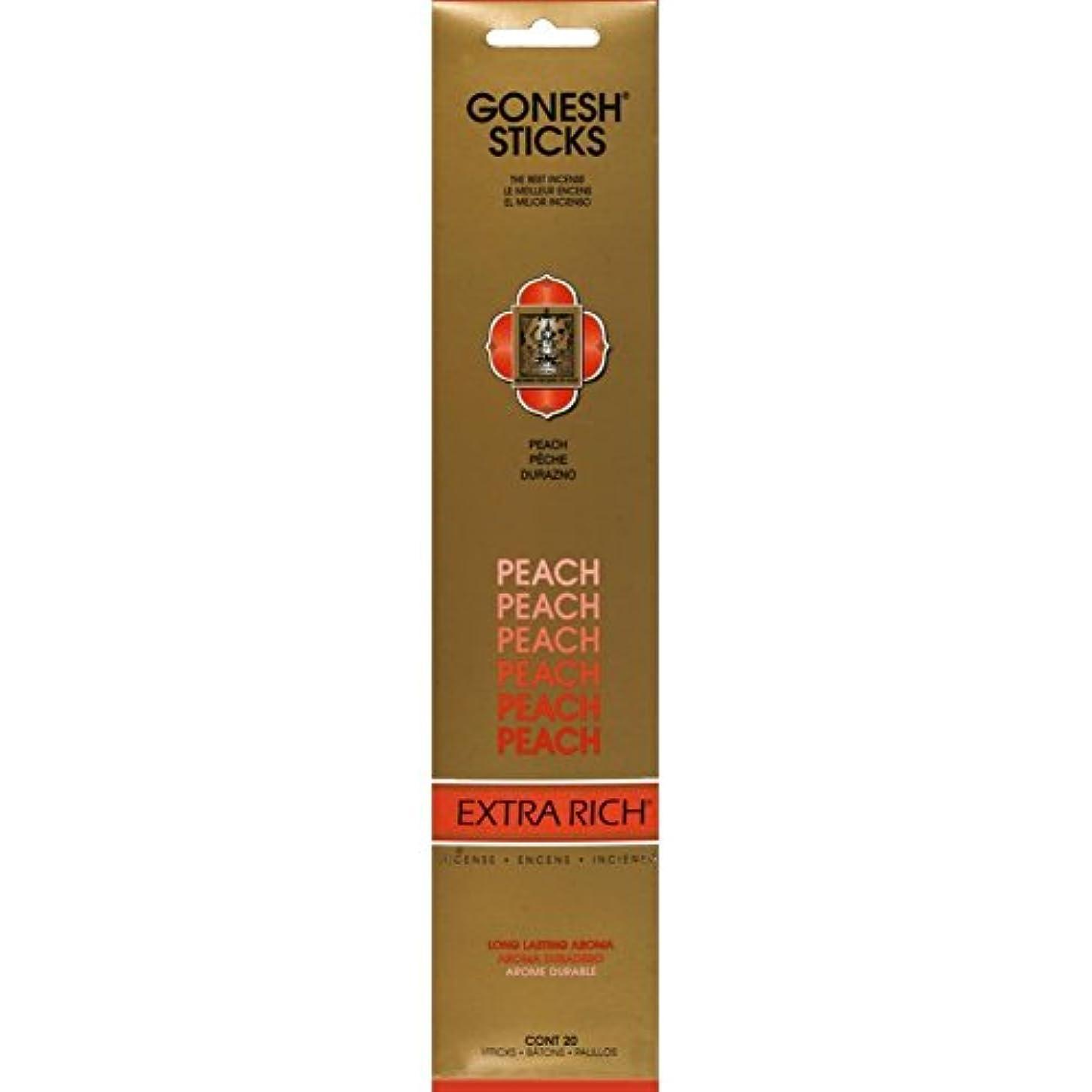 ビーズインタビューカブGonesh - Peach 20 Count Incense Sticks by Gonesh
