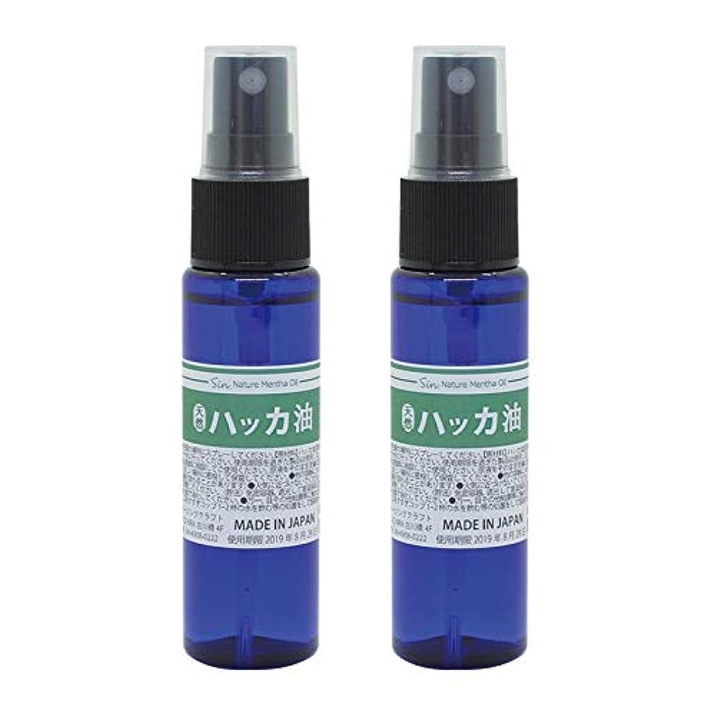 冷酷なめ言葉株式日本製 天然ハッカ油(ハッカオイル) スプレー 30mL×2本