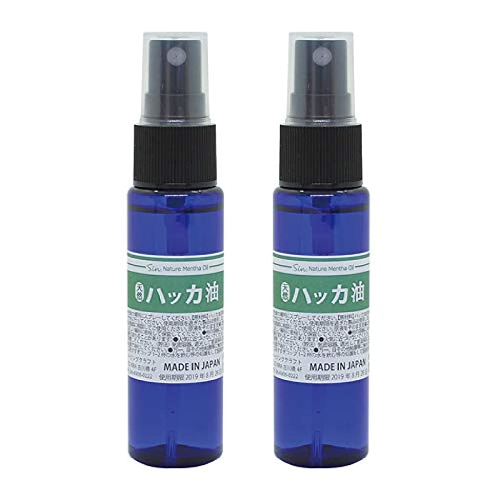 気候の山適切な通貨日本製 天然ハッカ油(ハッカオイル) スプレー 30mL×2本