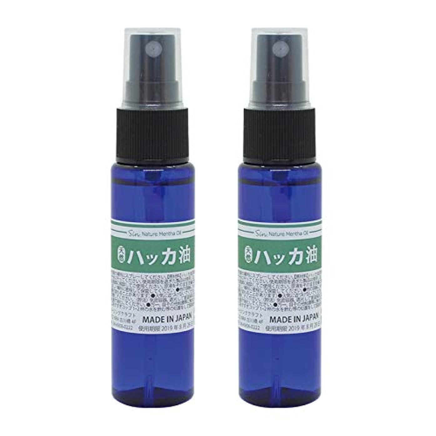 匿名葉巻メディア日本製 天然ハッカ油(ハッカオイル) スプレー 30mL×2本