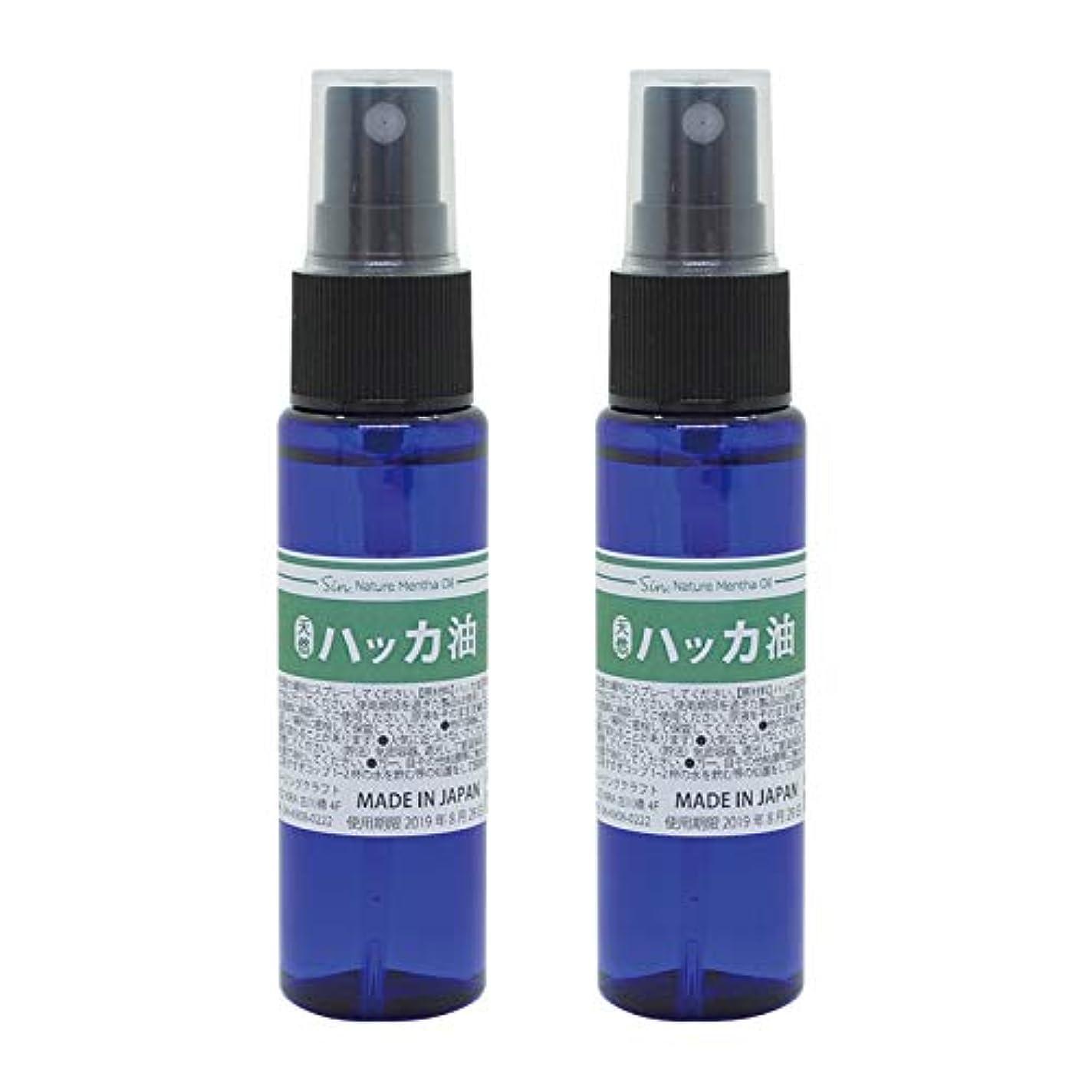 装置そして光沢のある日本製 天然ハッカ油(ハッカオイル) スプレー 30mL×2本