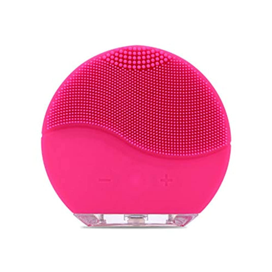 口述するアシスタントスライムQi フェイシャルクレンザーブラシ、電気フェイシャルミニシリコン防水超音波ポアクリーンインストゥルメントフェイススキンケアスパマッサージャー GQ (色 : A)