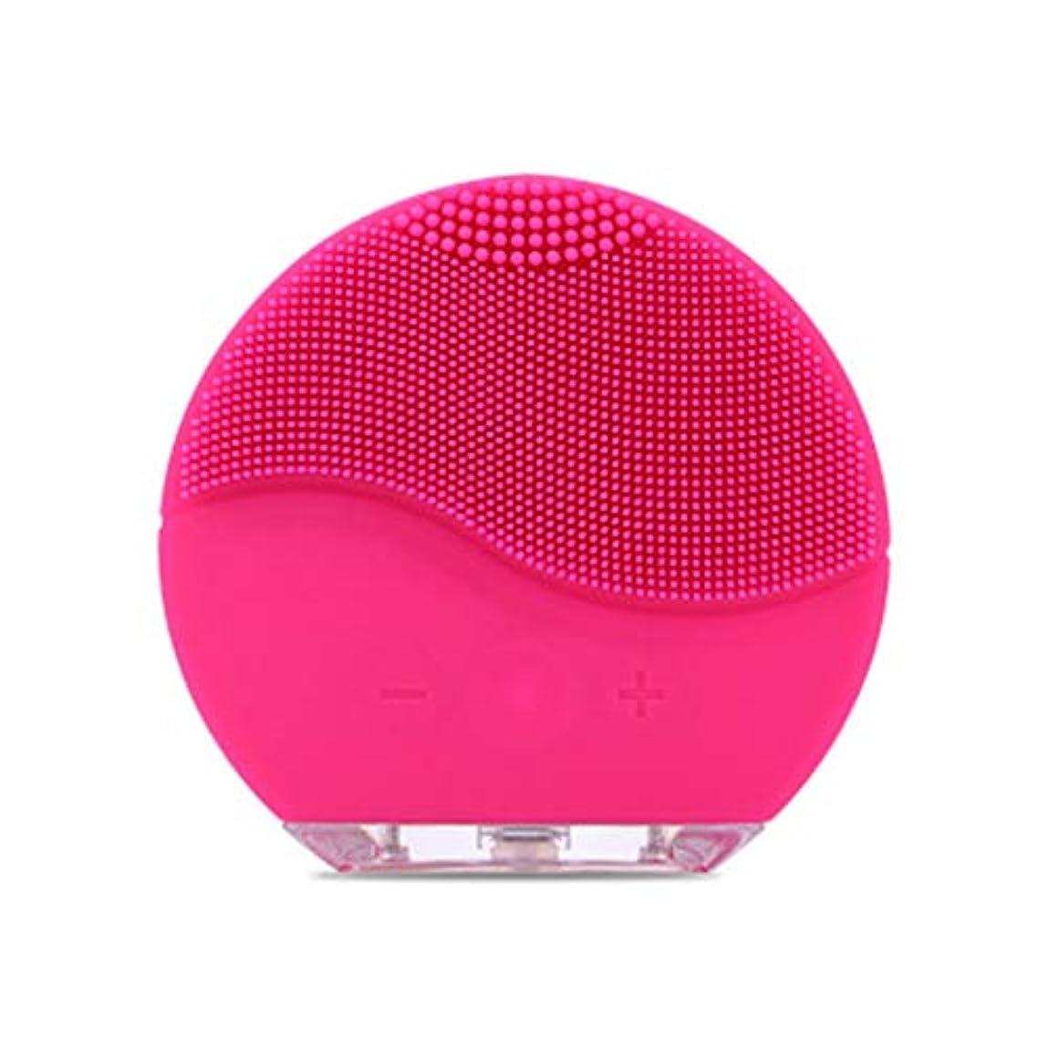 六分儀アスリート潮Qi フェイシャルクレンザーブラシ、電気フェイシャルミニシリコン防水超音波ポアクリーンインストゥルメントフェイススキンケアスパマッサージャー GQ (色 : A)