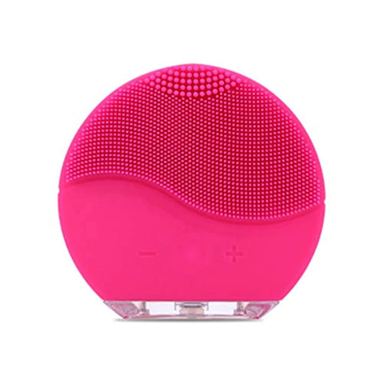 Qi フェイシャルクレンザーブラシ、電気フェイシャルミニシリコン防水超音波ポアクリーンインストゥルメントフェイススキンケアスパマッサージャー GQ (色 : A)
