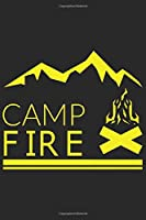 Camp Fire: Camp Fire: Notebook / Journal gift (6 x 9 inch - 110 pages - checkered / graphpaper 4x4)