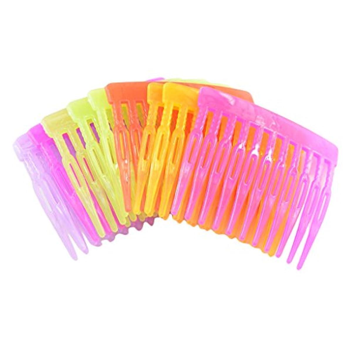 グラマー意味超越する23歯付き 可愛い ヘアクリップ エレガント プラスチック製 櫛