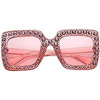 Flyme Sunglasses for Women, Crystal Oversized Square Sunglasses UV400