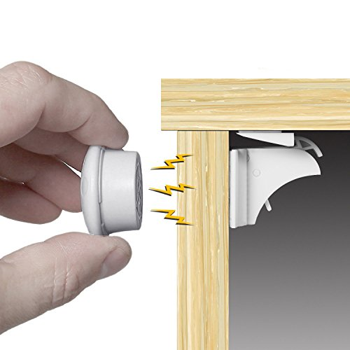 HomySnug 赤ちゃん安全磁気キャビネットロック(8ロック+2キー) ベビーガード 磁気 キャビネットロック 食器棚、引き出しなど適用 インストール簡単 工具不要 けが防止 3Mテープ付き