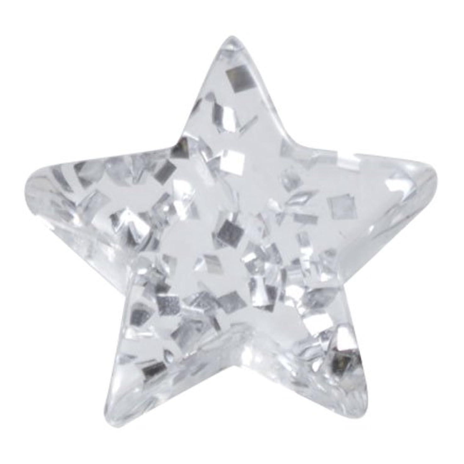 揮発性ほとんどの場合イサカリトルプリティー ネイルアートパーツ 星ラメ 5個