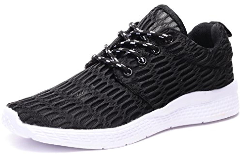 Stylein スニーカー メンズ 運動靴 スポーツシューズ ランニングシューズ ウオーキングシューズ カジュアル 軽量 通気 室内 ジム トラベル 靴 黒