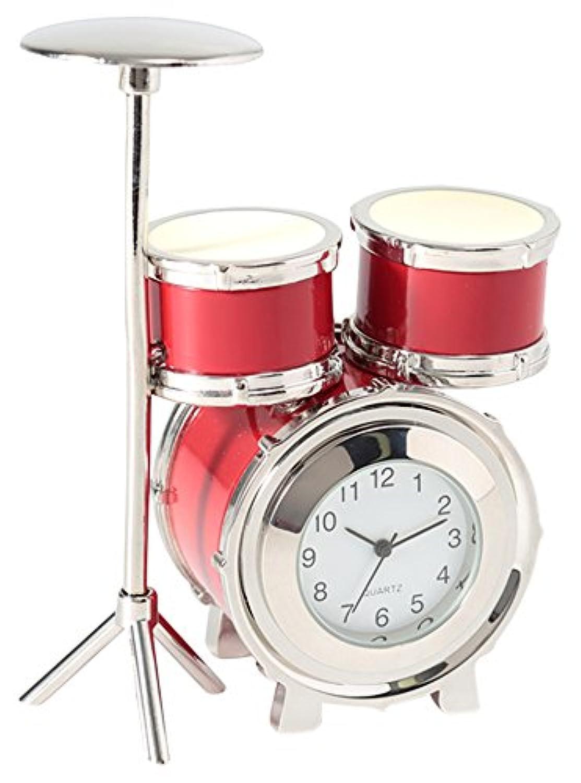 ミニチュアクロックコレクション(MiniatureClockCollection)ミニチュア置時計 ドラム 楽器 レッド 赤 C3206