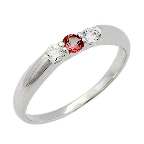 [해외][가위] Sears 탄생석 3 돌 반지 ah-295/[Sears] Sears Birthstone 3 Stone Silver Ring ah-295