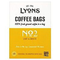 [Lyons ] リヨンの良い朝のコーヒー袋18パックあたり - Lyons Good Morning Coffee Bags 18 per pack [並行輸入品]