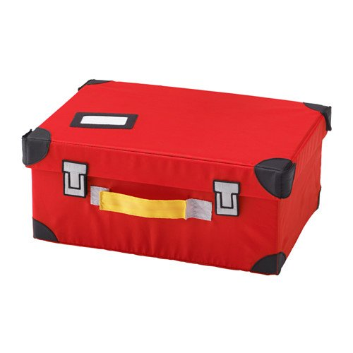 IKEA FLYTTBAR おもちゃ用トランク レッド 503.288.54...