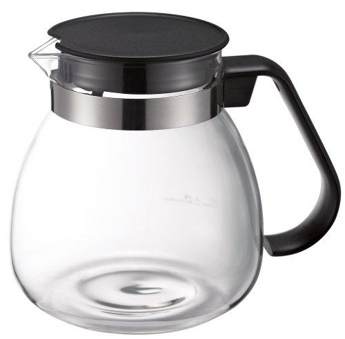 マックマー カフェプッシュ用耐熱ガラスポット ブラック (AA0019) 900ml
