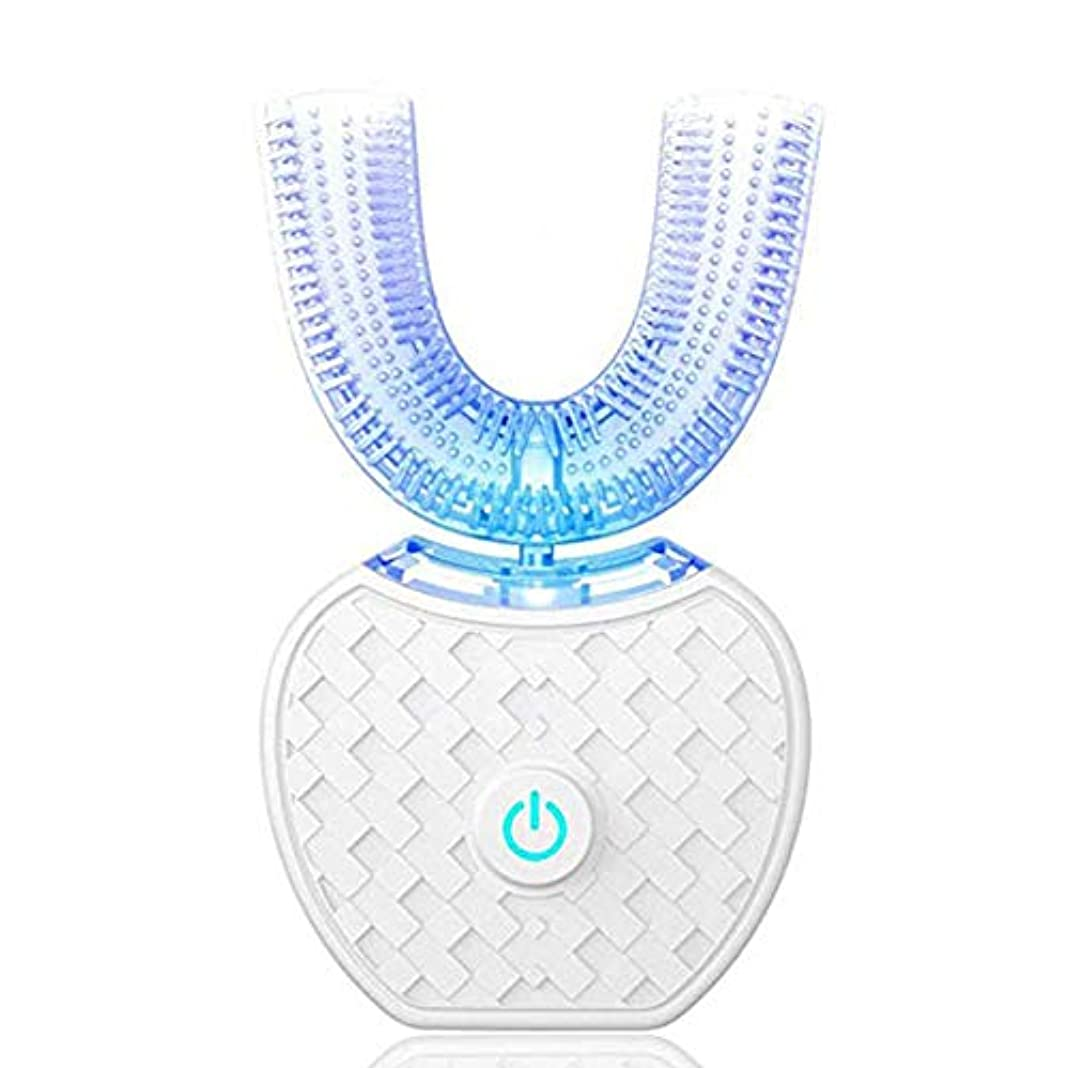 悲惨な気づかない誘惑するBeaurtty 電動歯ブラシポータブル自動LEDライトIPX7を白くする歯は手を放します