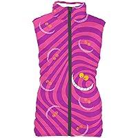 Rainbow Rules Cheshire Cat Disney Inspired Womens Puffer Vest Bodywarmer Gilet