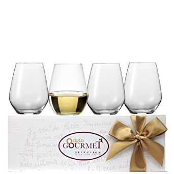 【グラスのギフトセット】ビールやソフトドリンクからワインまで毎日のテーブルで活躍してくれるタンブラー4個セット/Glass Gift Set: Not only Beer, Soft drinks and Water, these glasses produced by a well-know German Manufacturer are also made to enjoy white or red wine - Set of 4 Glasses