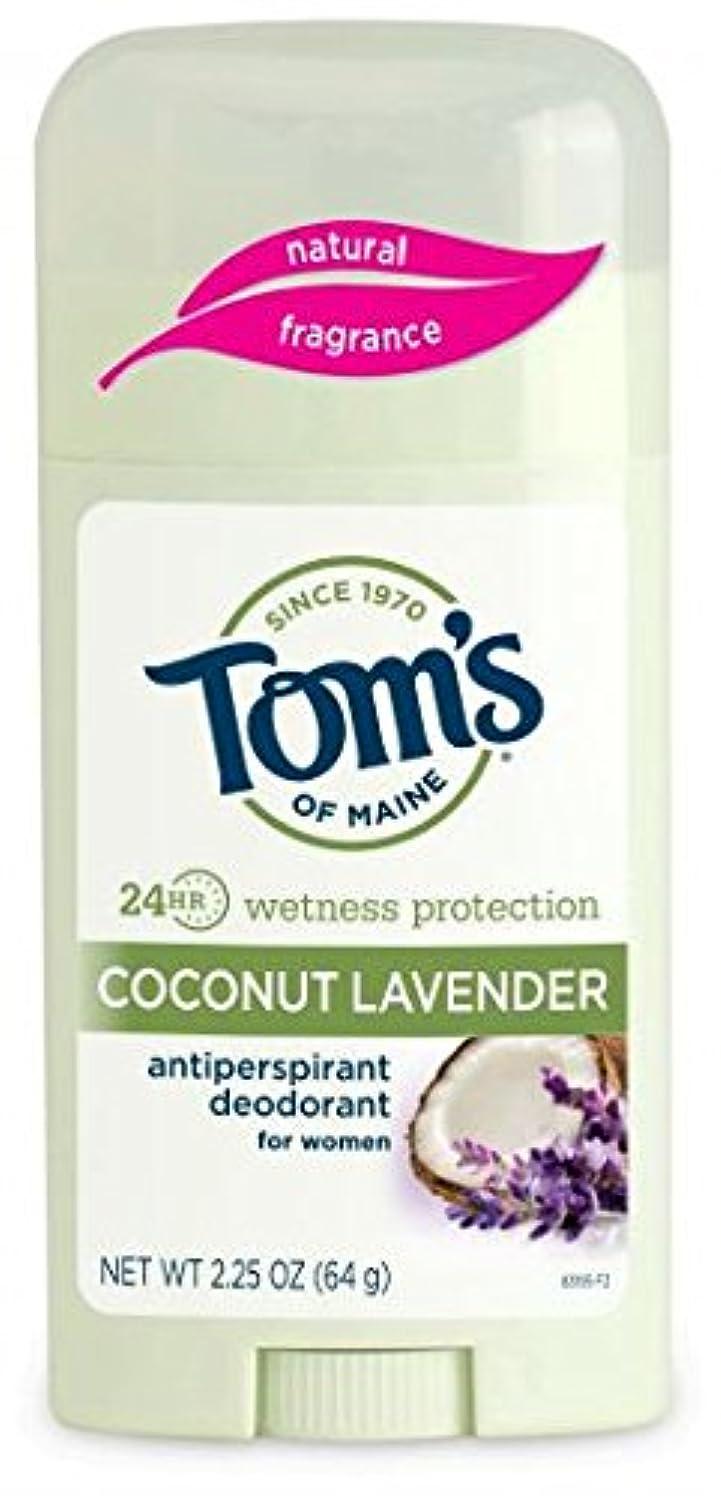 投げる慣れる近傍Tom's of Maine 女性のスティックナチュラル制汗剤、ココナッツラベンダー、2.25オンス 海外直送
