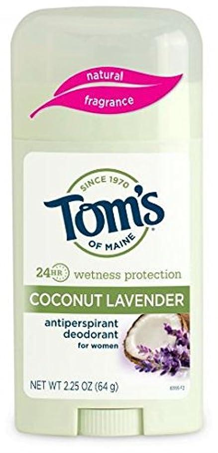 カートン調停するガジュマルTom's of Maine 女性のスティックナチュラル制汗剤、ココナッツラベンダー、2.25オンス 海外直送